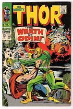 Marvel Comics  FN 5.0  THOR  #147 1967 AVENGERS  MID GRADE LOKI Wrath odin