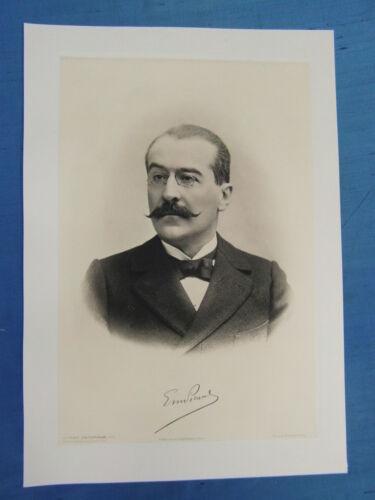 EMILE PICARD MATHEMATICIEN FRANCE CONTEMPORAINE DELTOUR PORTRAIT 1905