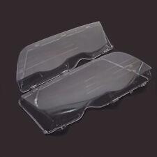For BMW E46 4D 323i 325i 328i 330i 330xi 99-02 Pair Headlight Clear Lenses Cover