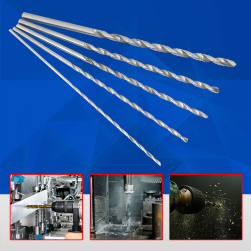 5pcs 2-5mm Extra Long 160mm HSS Twist Straight Shank Drill Bit Tool For Wood GS
