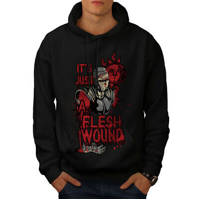 Süß GehäRtet Wellcoda Just A Flesh Wound Mens Hoodie, Holy Casual Hooded Sweatshirt Aromatischer Geschmack