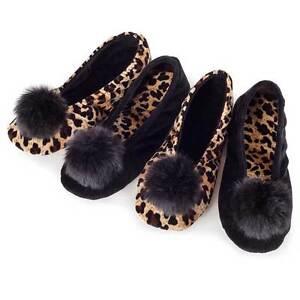 Isotoner Velour Ballerina Slippers with
