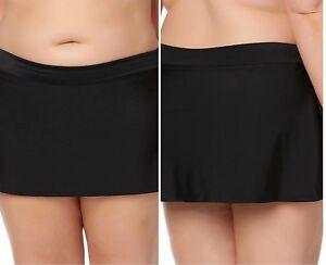 Basic-Editions-BLACK-Swim-Skirt-Swimskirt-Swimsuit-w-Briefs-NWT-PLUS-22W-24W-26W