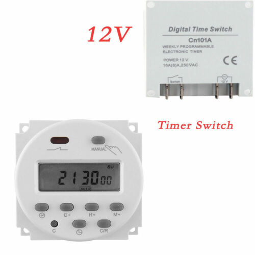 12V DC Digital Time Switch Timer Counter LCD Display Power Relay Programmable