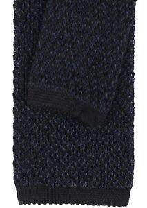 NWT EIDOS by Isaia POCKET SQUARE cotton blue grey handmade Italy