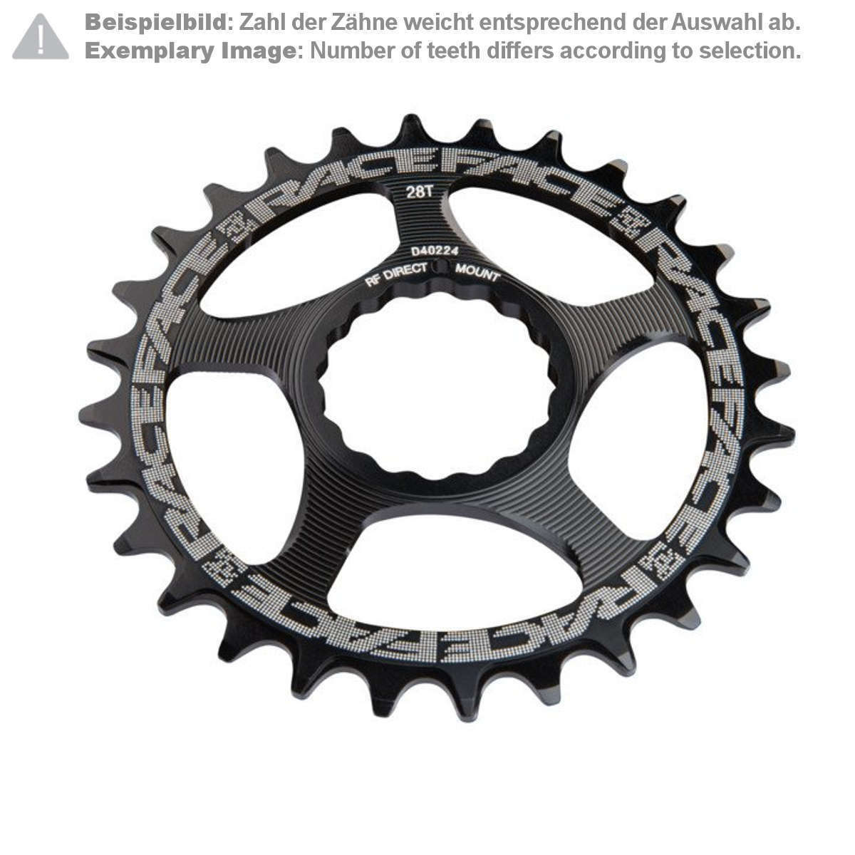 Race Face MTB-Kettenblatt  Schwarz Direct Mount, Cinch, für 10 11 12-Fach
