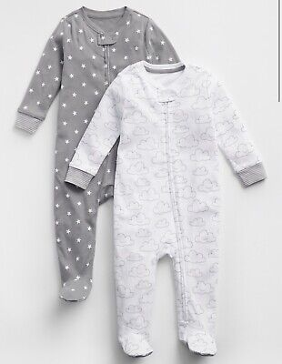Baby Gap Girls Ivory Bear Sherpa Footed Zip One Piece Coveralls NWT