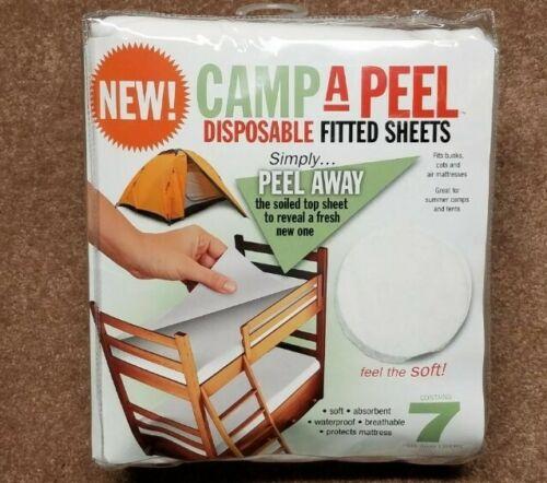 Peelaways jetables Drap-housse pour Lits superposés ou camping