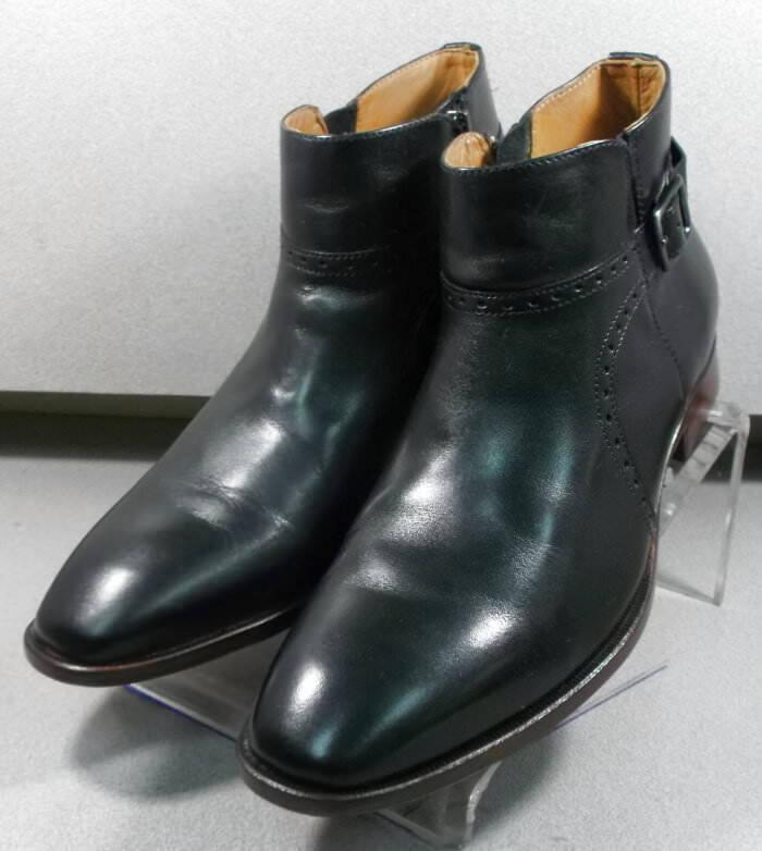 209775 pfbt 40 para hombres zapatos M Negro Cuero botas Johnston & Murphy