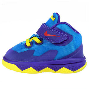 17527bcaabb NIKE LEBRON SOLDIER 8 BLUE PURPLE JAMES BASKETBALL BABY TD SZ 4-10 ...