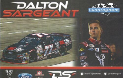 "2017 DALTON SARGEANT /""BIG TINE WO//SUNGLASS/"" #77 NON NASCAR ARCA SERIES POSTCARD"