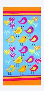 Birds-Beach-Towel-100-Cotton-Soft-30x60-Absorbent-Kid-039-s-Bath-Towel-by-Hencely