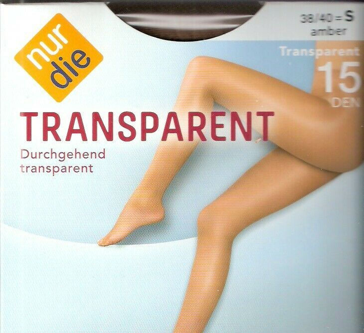NUR DIE - Transparent - Strumpfhose Gr. S - L schwarz, amber, mandel, bronze