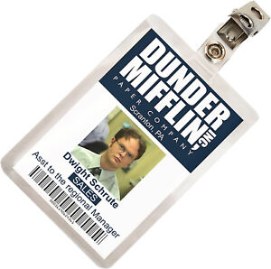The-Office-Dwight-Schrute-Dunder-Mifflin-ID-Badge-Cosplay-Costume-Name-Tag-TO-1