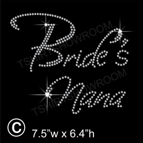 "/""Bride/'s Nana/"" Party Rhinestone Transfer Hotfix Iron on with a Free Gift"