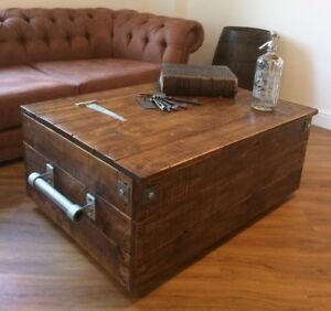 Image Is Loading Large Reclaimed Wooden Storage Chest Ottoman Blanket Box