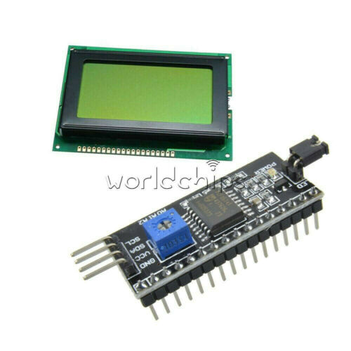 5V 12864 Yellow Green 128x64 LCD Display 1602LCD IIC//I2C//SPI Serial for Arduino
