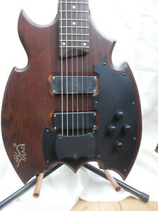 Cassandra-Elk-034-Gothic-Dream-Batman-034-6-string-Bariton-Bass-Ulme-Body-Aktiv-nur1