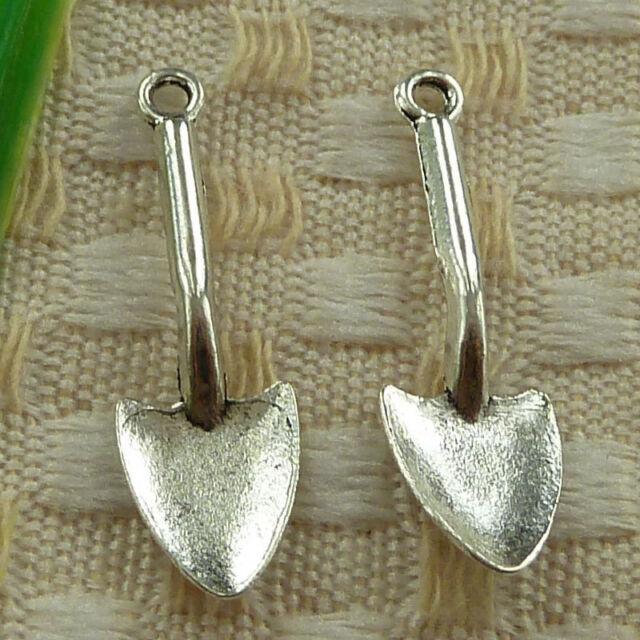 free ship 110 pieces tibetan silver shovel charms 19x9mm #3528
