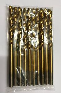 Heller 3.2mm HSS-TIN Titanio torsión Metal Brocas Pack 10 herramienta de calidad alemana
