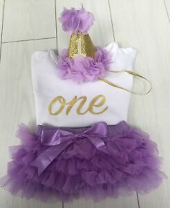 baby girls cake smash first 1st birthday outfit tutu knickers hat