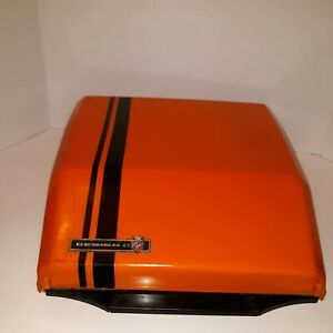 Orange Smith Corona Super G Portable Typewriter,1970s - Karmann Ghia VINTAGE