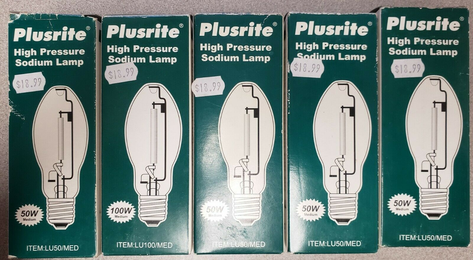 Sylvania 67464//67502 HPS50//MED//RP 50W E17 E26 Medium High Pressure Sodium Lamp