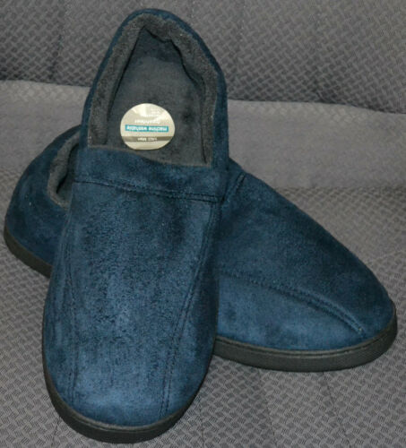 BNWT SIZE 12 NAVY MENS M/&S SLIPPERS WITH FRESHFEET TECHNOLOGY