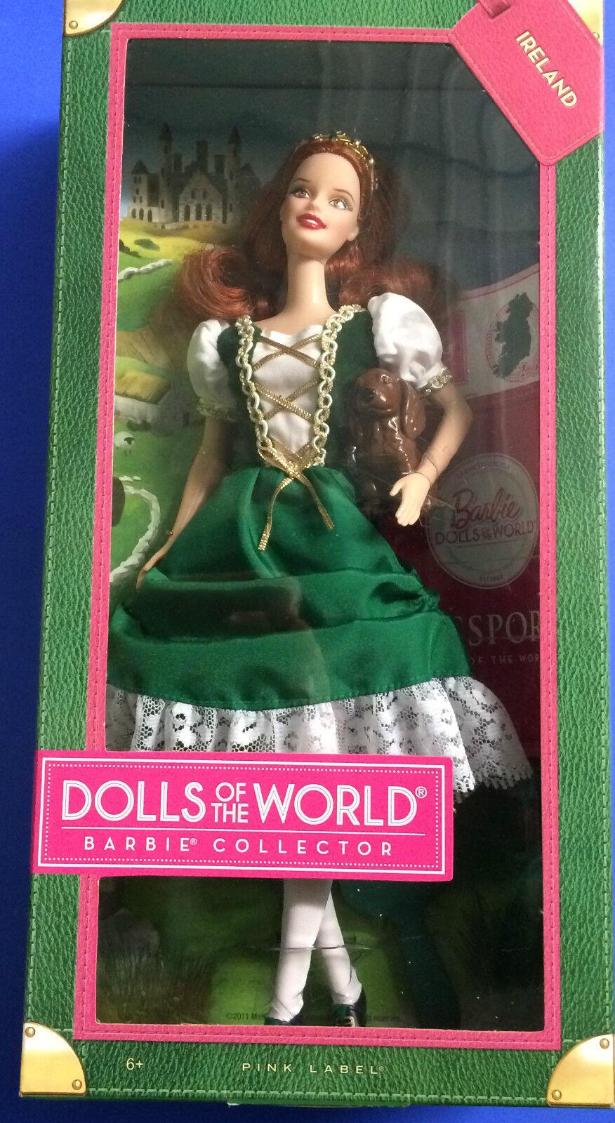Barbie Sammler Puppe Puppe Puppe 2011 Dolls Of The World Rosa Etikett NRFB   Irland 6d90cc