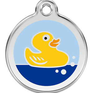 Red-Dingo-Rubber-Duck-Engraved-Dog-Cat-ID-identity-Tags-discs-1RU