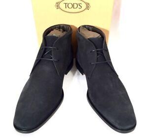 TOD-039-S-034-POLACCO-GEORGE-034-Schuhe-Stiefeletten-Shoes-Boots-blau-blue-Leder-NEU-BOX