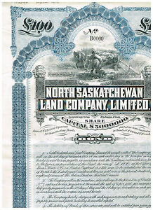 North-Saskatchevan-Land-Co-Ltd-1911-SPECIMEN-rare