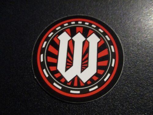 """WORLD INDUSTRIES 1.5/"""" W Logo STICKER decal skate skateboard streetwear street"""