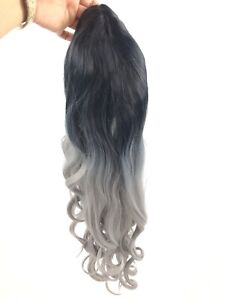 Wavy-Long-Ombre-Black-Silver-Gray-Wig-Synthetic-Cosplay-Costume-Halloween-27-034