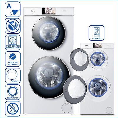 Waschtrockner Waschmaschine Trockner EEK:A Haier HWD120-B1558U 12kg & 4 kg