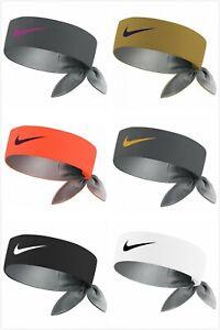 Nike Roger Federer Rafael Nadal Dri Fit Tie Up Swoosh Tennis Headband Bandana Uk Ebay
