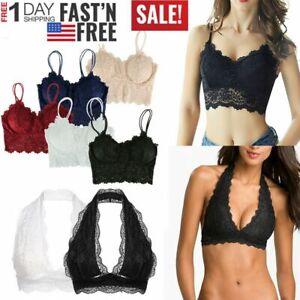 Fashion-Women-Lace-Floral-Trim-Bralette-Crop-Top-Push-Up-Bra-Underwear-LingerieT