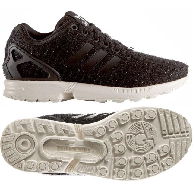 a27228f2a Adidas Originals W ZX Flux S77309 Core Black White Tweed Women s Shoes