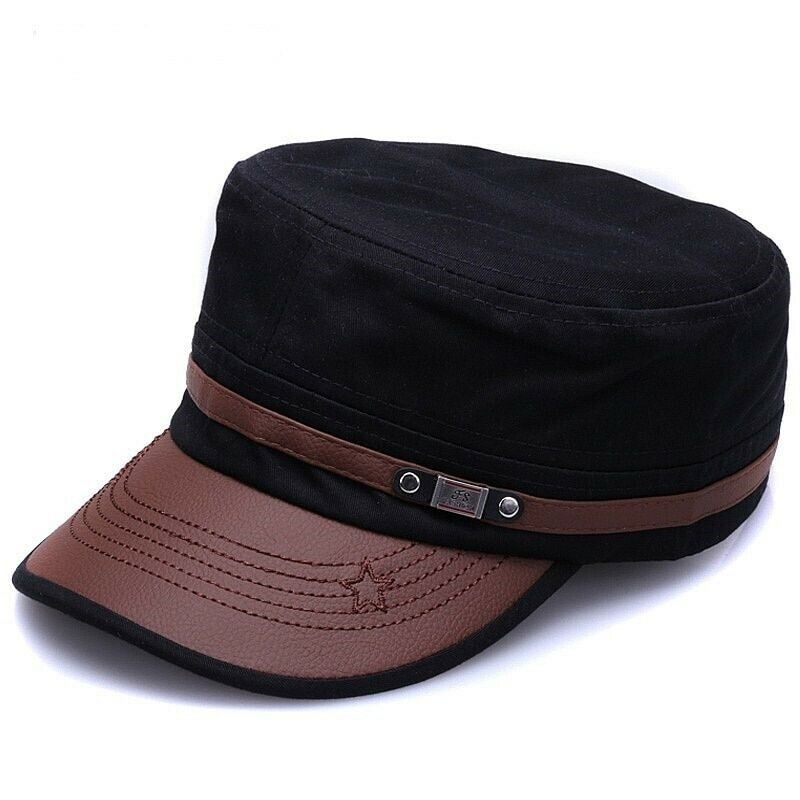 Military Cotton Hat Men Women Adjustable Army Caps Vintage Flat Hats Cadet Cap