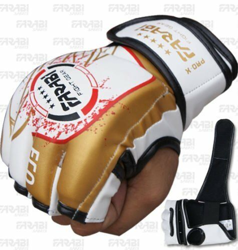 MMA Grappling Gloves Boxing Punch Bag Fight Cage Muay Thai Synthetic Leather New