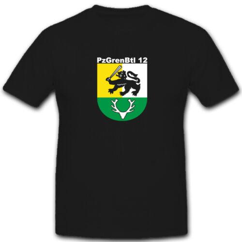Pzgrenbtl 12 Panzergrenadierbataillon 12 Militär Bundeswehr T Shirt #4940