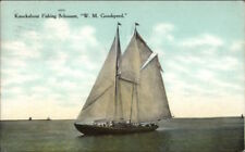 Gloucester MA Fishing Schooner Ship WM Goodspeed c1910 Postcard