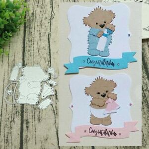 BEAR-METAL-CUTTING-DIES-DIY-SCRAPBOOK-EMBOSS-PAPER-CARD-ALBUM-CRAFT-STENCIL