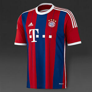 brand new a038f dce3f Details about BAYERN MUNICH 2014/15 (LRG) BLUE/RED GERMANY ADIDAS SOCCER  SHIRT FOOTBALL JERSEY
