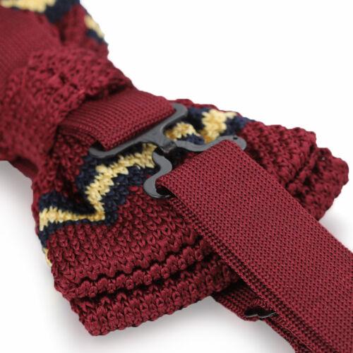 Mens Chic Knit Bowknot Knitted Adjustable Bow Tie Tuxedo Necktie Bowtie Neckwear