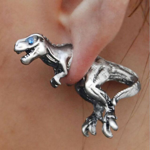 Hand-made Lovely Tyrannosaurus Little dinosaur Original Earring Ear Stud