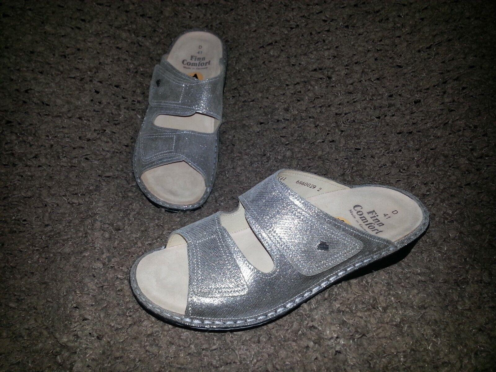 FINN FINN FINN COMFORT -Jamaica Sandal -Metall Nubuck läder -Taupe  silver -NEW -41  10.5 -11  ej att förglömma!