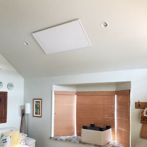 Details About 550w Infrared Heater Ceiling Mount Heating Panel Electric Raditor Carbon Crystal