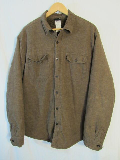 Patagonia Men's Long Sleeved Cormac Shirt Size XL 53850 Fleece Lined Hemp