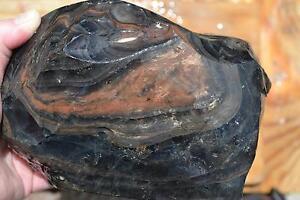 Obsidian Rock Gold Sheen Mahagony Utah cabbing napping carve Healing Stone